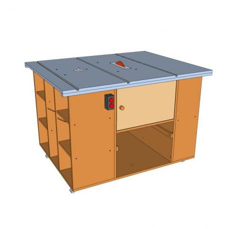 Planos sierra y fresadora de mesa for Mesa para fresadora