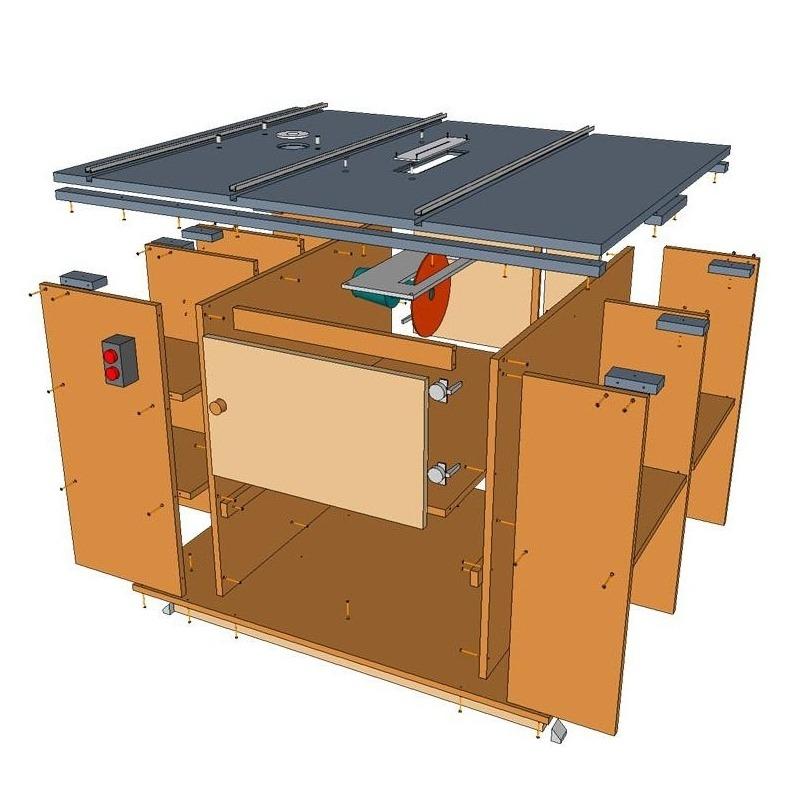 Planos sierra y fresadora de mesa for Mesa fresadora casera
