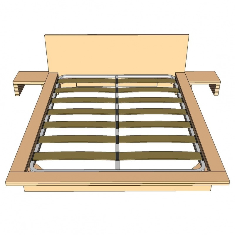 Tatami bed plans standard frame for Cama japonesa ikea
