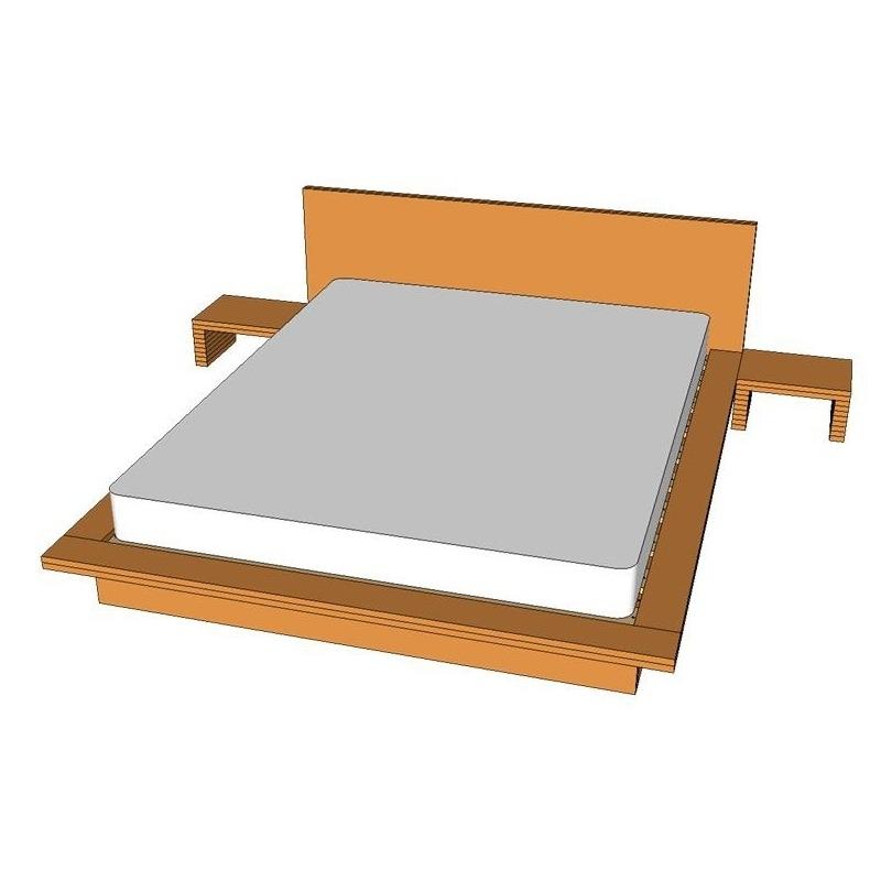 Planos cama tatami somier madera - Cama estilo tatami ...