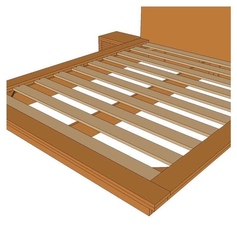 Planos cama tatami somier madera Proyectos en madera gratis