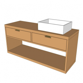 Planos Mueble para Baño