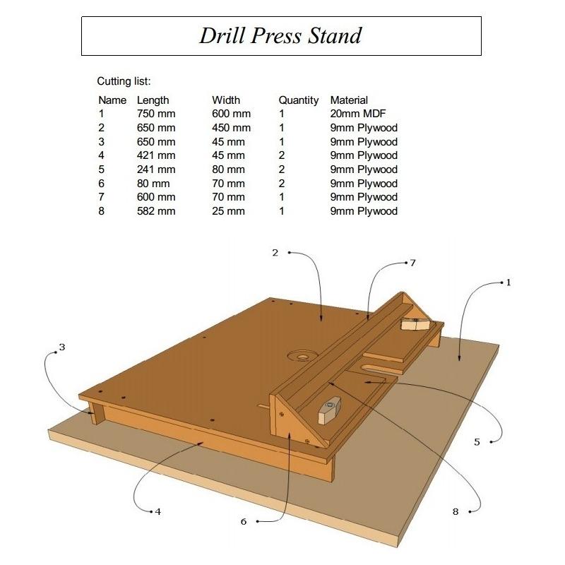 Drill Press Stand Plans