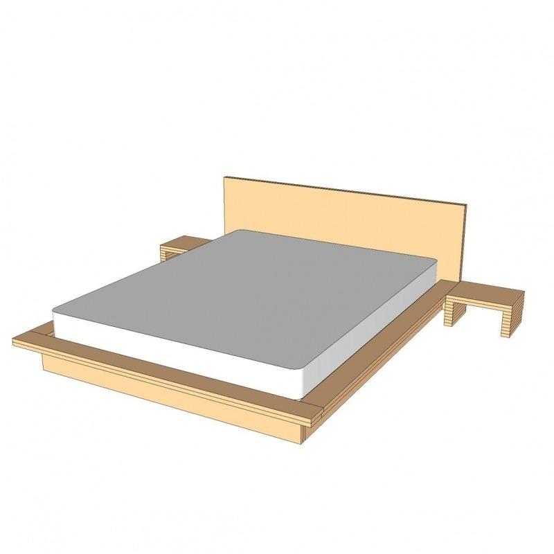 Planos Cama Tatami Somier Metálico