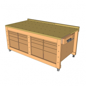 Cutting Station Plywood Workbench