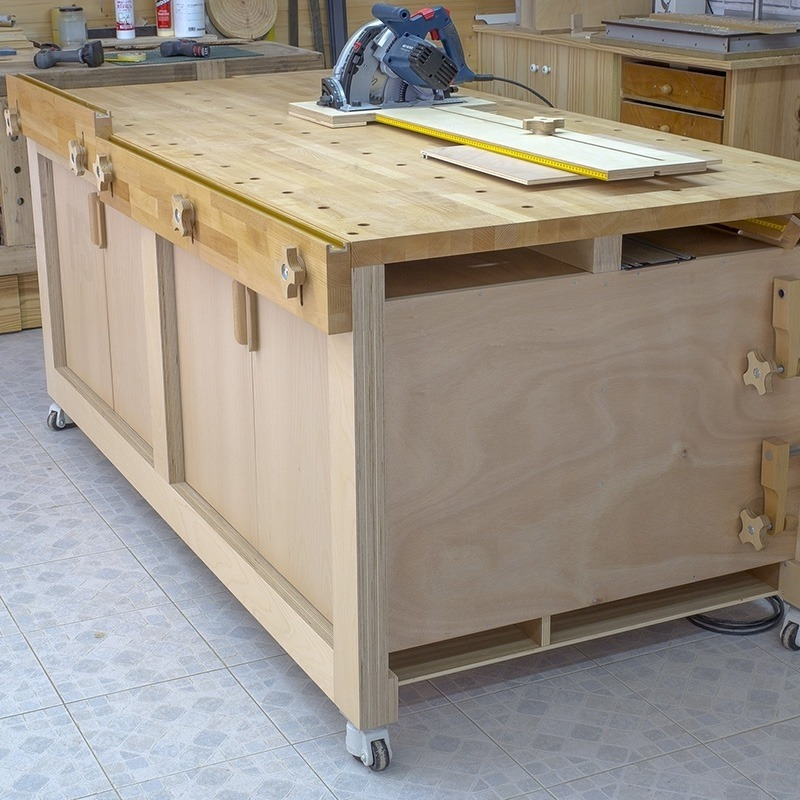 Homemade High Capacity Multi-Function Plywood Workbench
