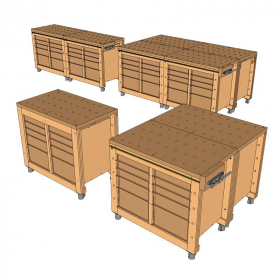 Modular Workbench & Mobile Tool Stand Plans