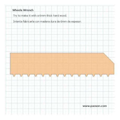 Retractable Wheels Adjustment Wrench Plans