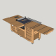 Mobile Workbench with Table Saw & Router Table Plans
