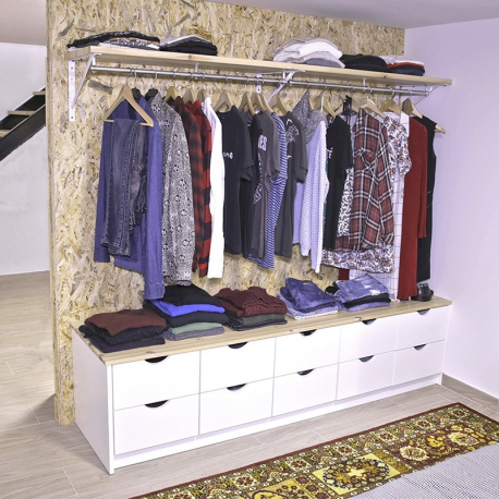 Open Wardrobe Plans