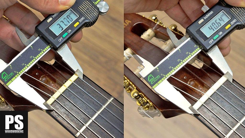 Cambio de cejuela en una guitarra española