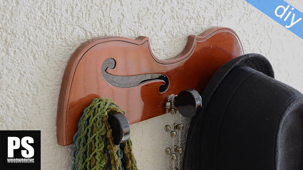 Colgadores inspirados en instrumentos musicales