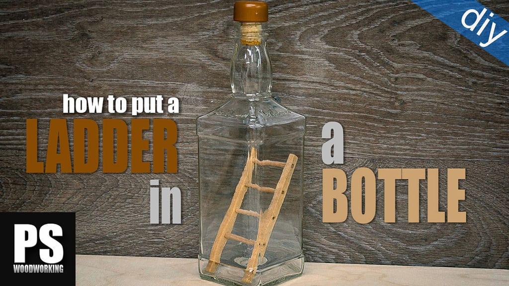 Truco escalera dentro de una botella