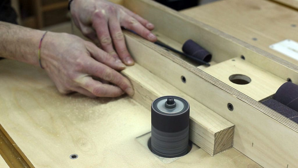 How-use-drill-press-sanding-drums-thickness-sander