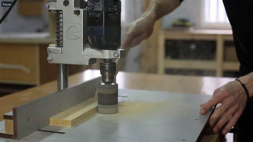 How-use-sanding-drum-diy-drill-press-table