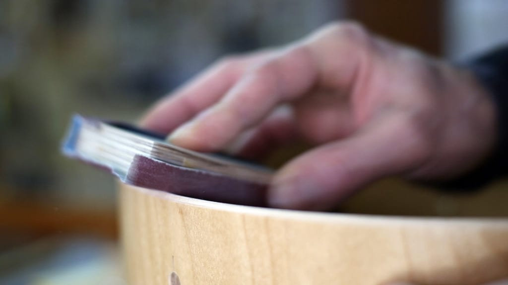 DIY-drum-bearing-edge-cutting-sanding