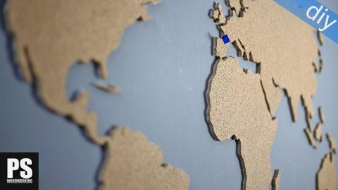 Diy-wall-cork-world-map