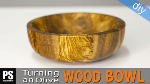 Turning-diy-olive-wood-bowl
