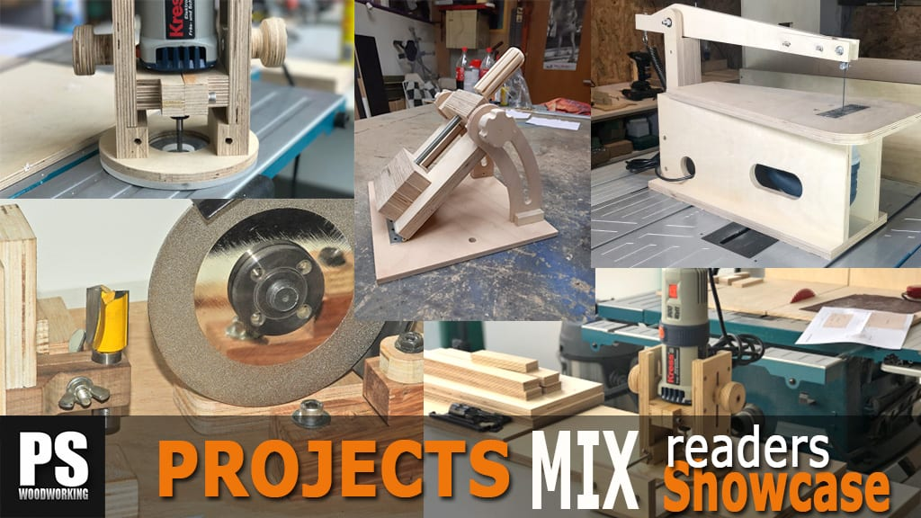Mix of woodworking readers projects