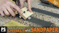 How-sharpen-chisels-sandpaper-diy