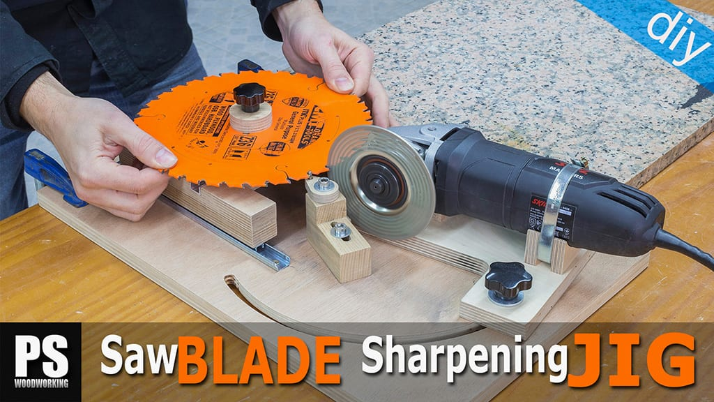 DIY Saw Blades & Router Bits Sharpening Jig