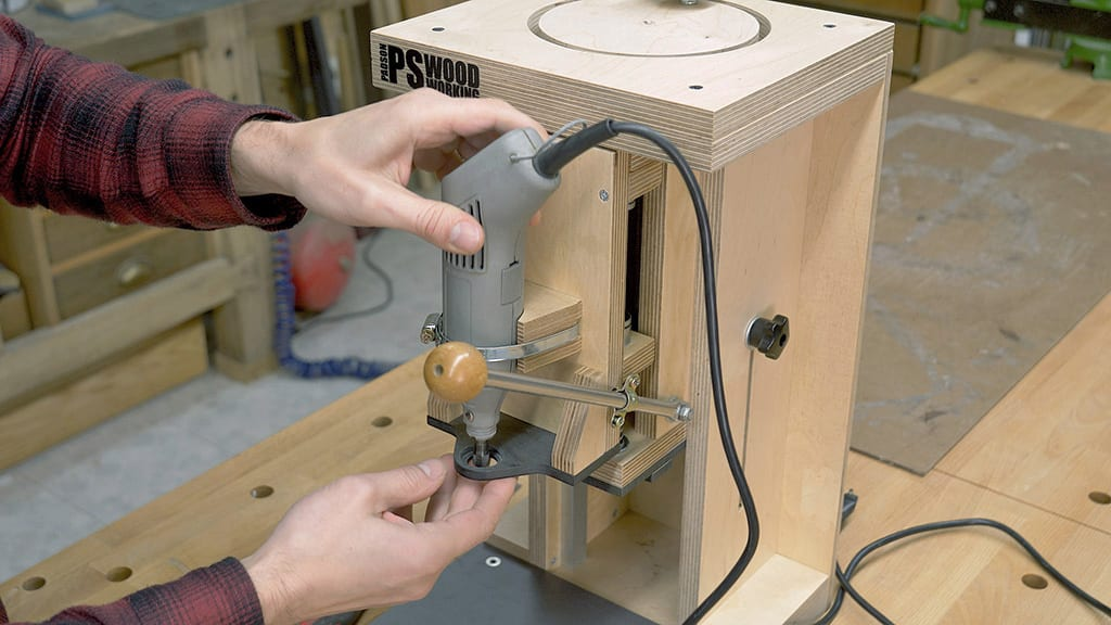 Diy-rotary-tool-worstation-column-drill