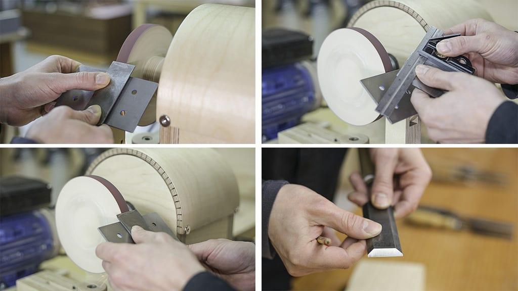 How-sharpen-chisels-homemade-grinding-wheel-lathe