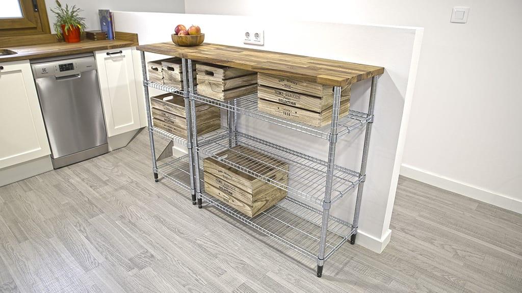 Homemade-european-style-kitchen-steel-shelving