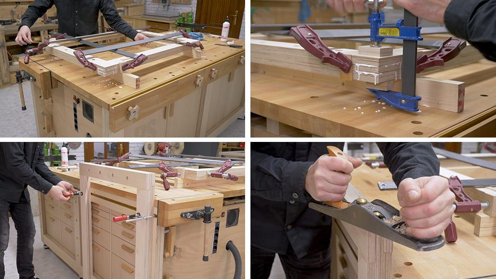 Diy-modular-workbench-mobile-tool-stand-frame