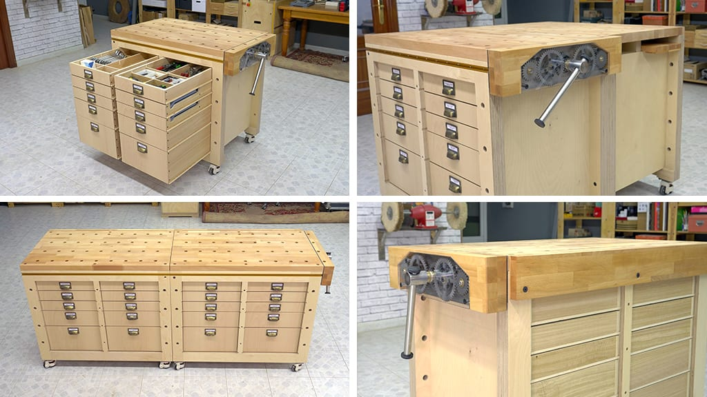 04Modular Workbench  Mobile Tool Stand 82 - Banco Carpintero Modular y Portaherramientas  (3)