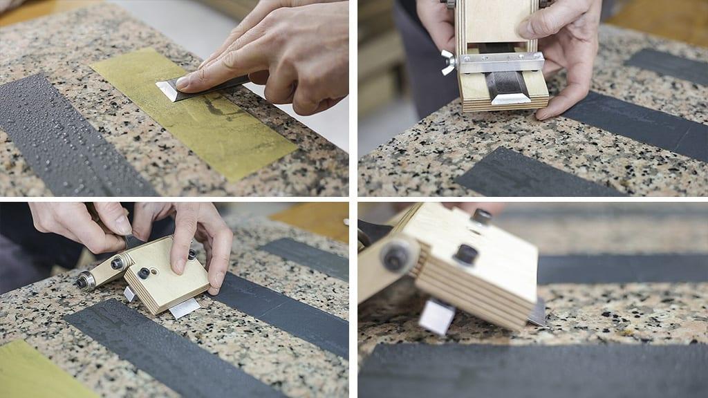 How-sharpen-chisels-jig-sandpaper-woodworking