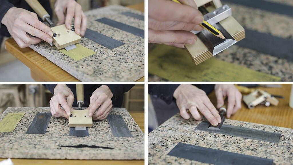 How-sharpen-chisels-diy-jig-sandpaper