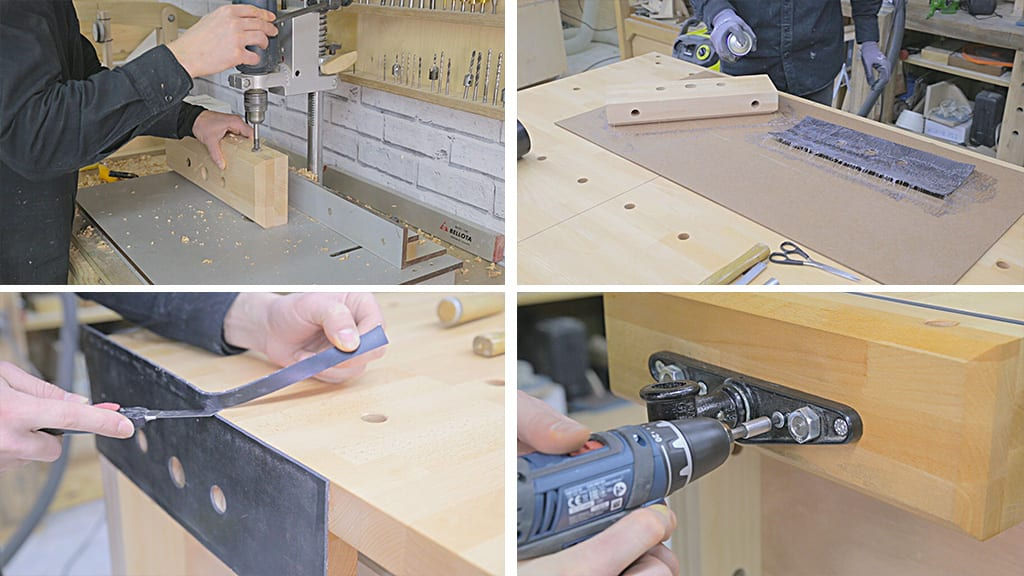 Diy-workbench-front-vise-clamp