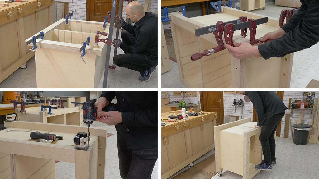 How-to-make-modular-workbench-mobile-tool-stand-woodworking
