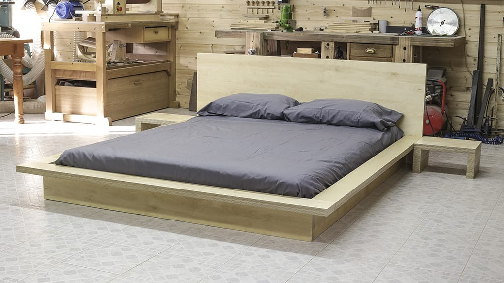 Homemade-plywood-tatami-style-bed-look
