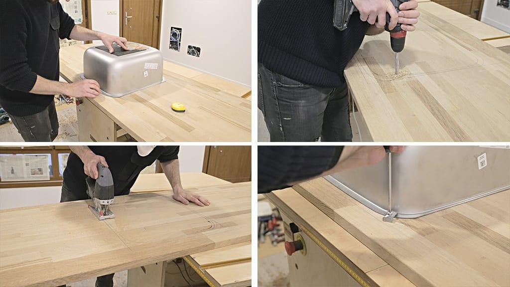 How-install-european-kitchen-countertop-sink-woodworking