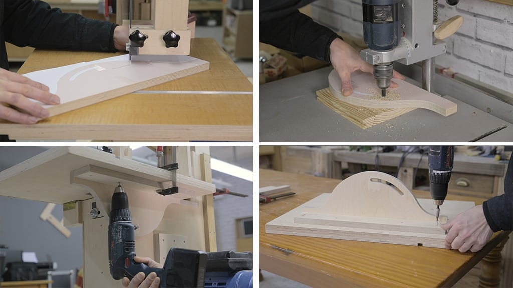 13Homemade Band Saw 30 - How to make the blade guides for a Band Saw
