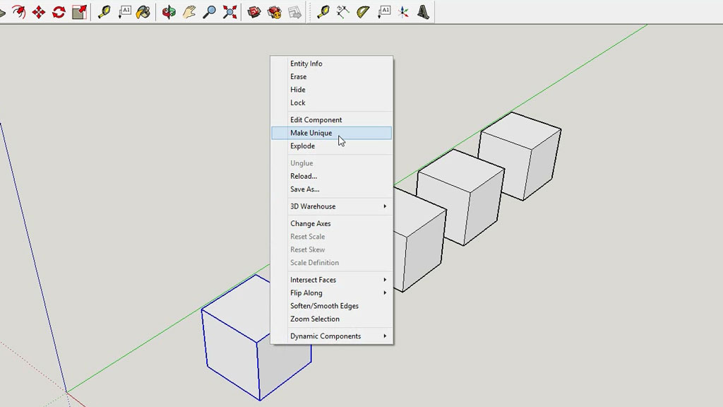 How-use-sketchup-tutorial-unique-component-beginners