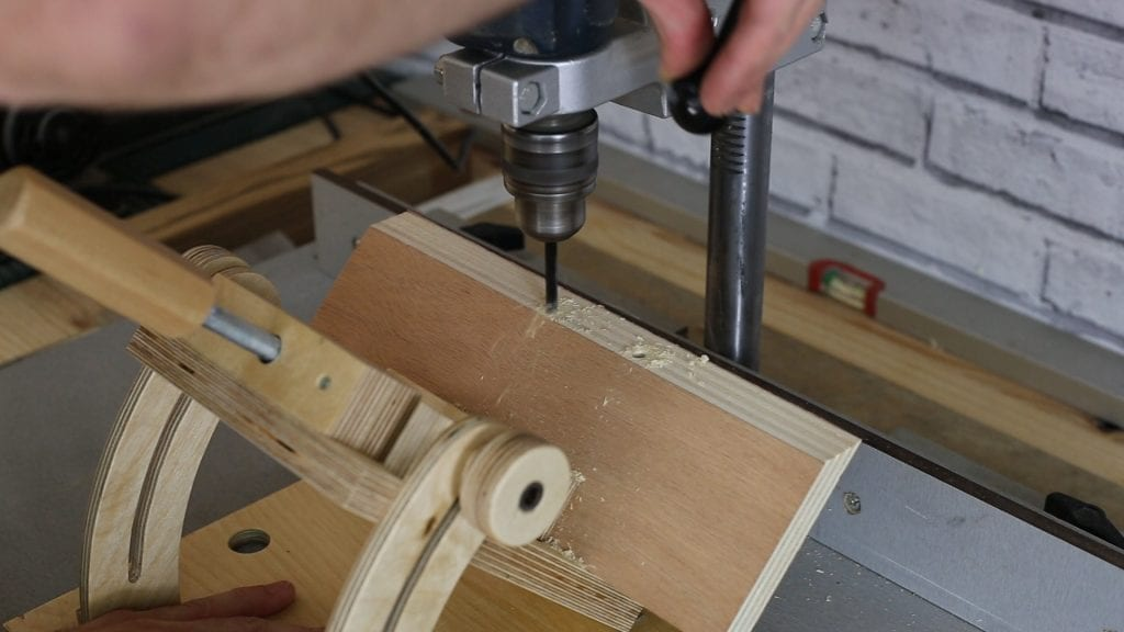 Homemade-angle-drill-press-vise-working