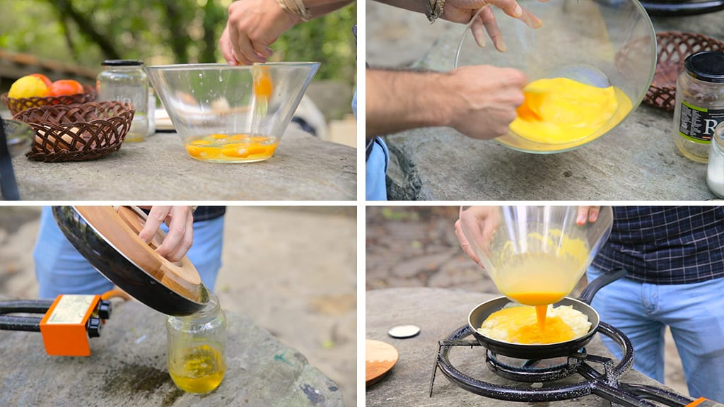 Cooking-omelette-outdoors-potatoes-egss
