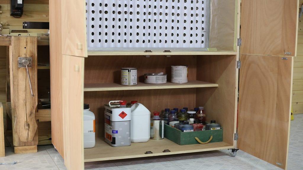 Diy-portable-spray-booth-air-cleaner-storage