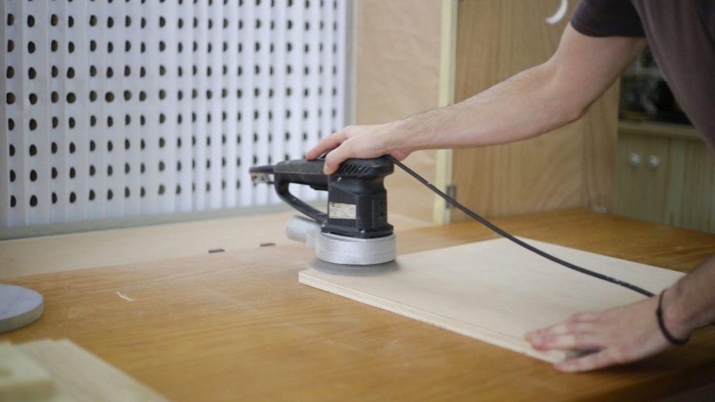 Sanding-test-diy-portable-spray-booth-air-cleaner