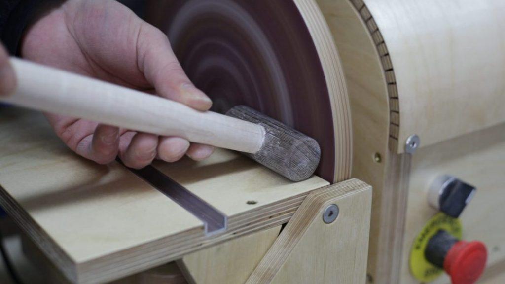 Sanding-woodworking-diy-mallet-disc