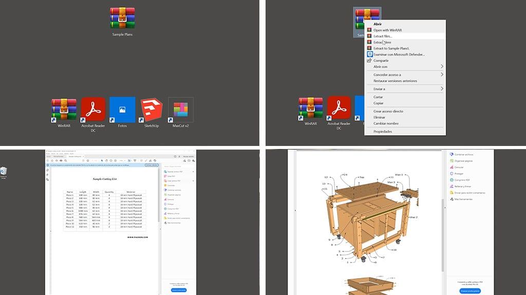 Como-descomprimir-planos-carpintería-bricolaje-zip