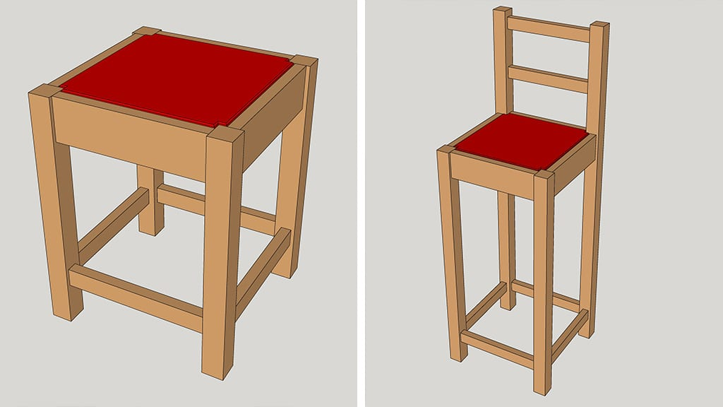 Homemade-low-bar-stool-project-plans