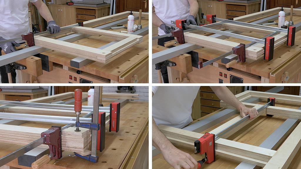 How-make-glue-diy-mobile-workbench-plywood-frame