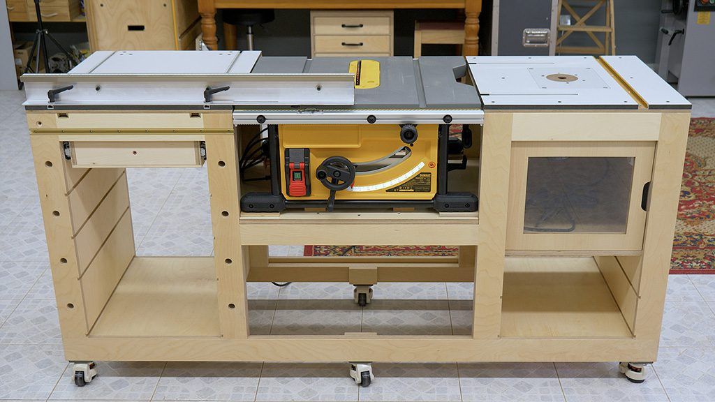Homemade-router-table-fence-insert-plate-woodworking-workbench
