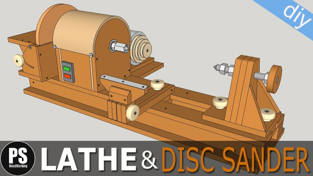 Lathe and disc sander