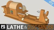 Homemade lathe and disc sander plans